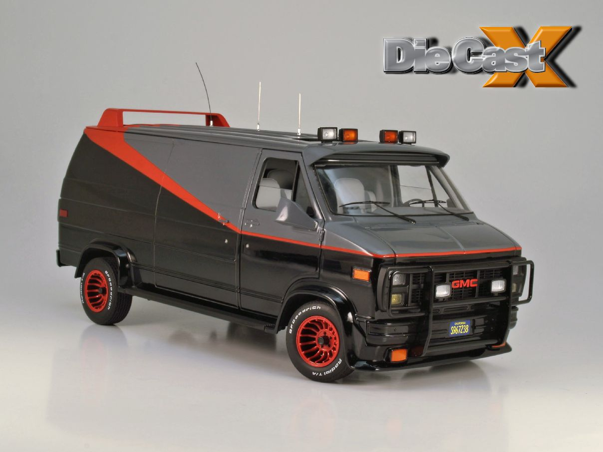 first look hot wheels elite 1 18 a team van die cast x. Black Bedroom Furniture Sets. Home Design Ideas