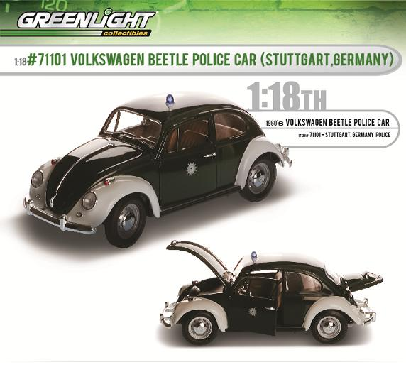 greenlight beetle police car die cast x. Black Bedroom Furniture Sets. Home Design Ideas