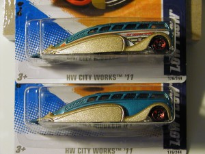 Be on the look out for the 2011 Hot Wheels City Works Low Flow missing the side tampos.
