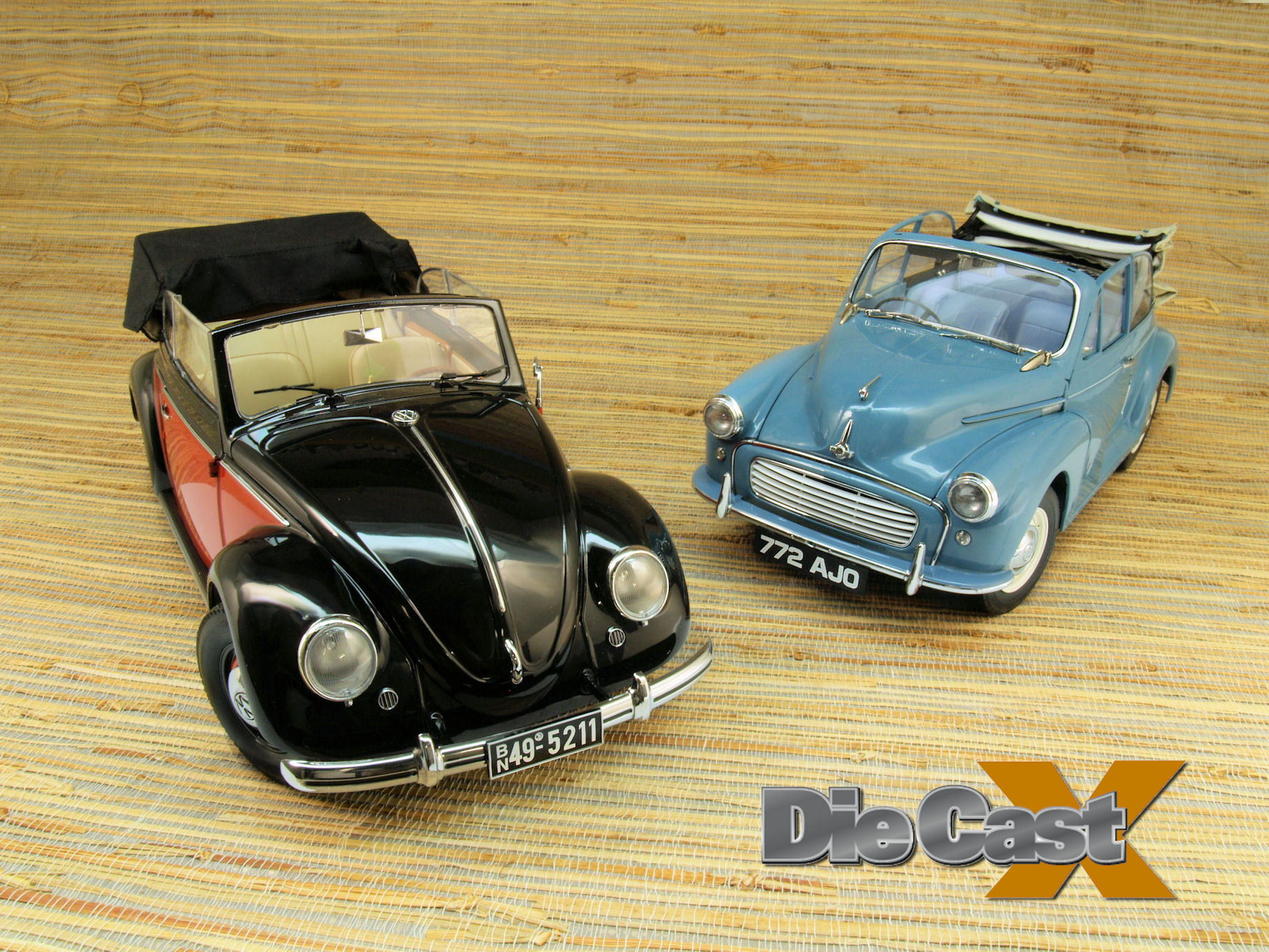 Sunstar's 1:12 Morris Minor and VW Cabriolet: Cheap Thrills