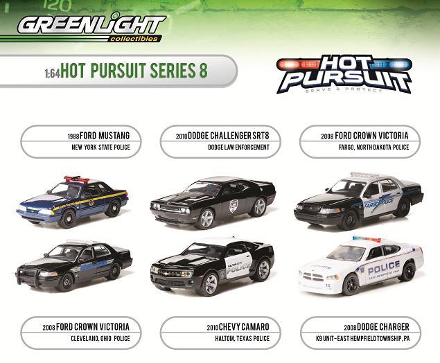 Greenlight Announces Hot Pursuit Series 8 Die Cast X