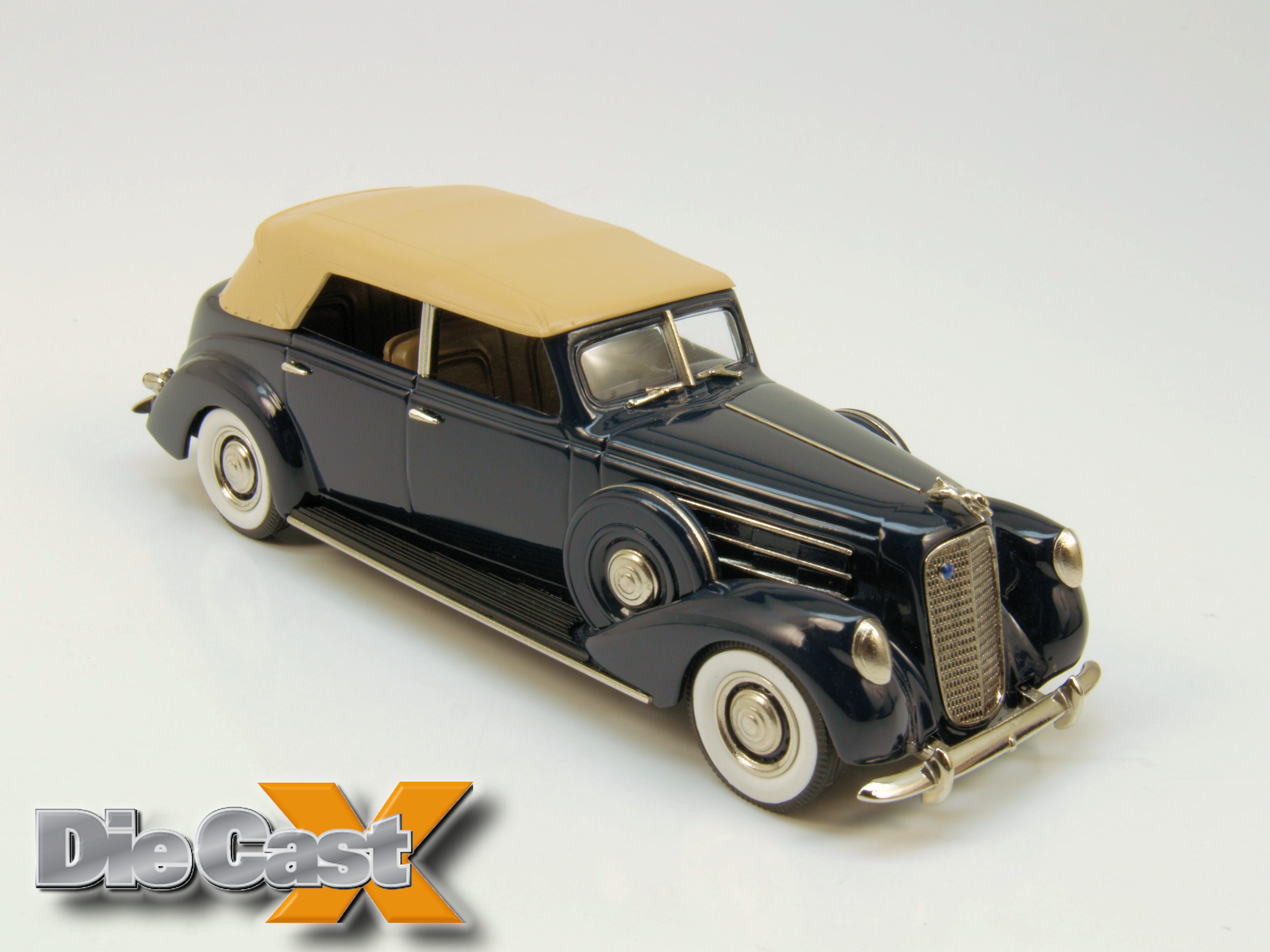 Brooklin 1:43 1937 Lincoln Le Baron Convertible: White Metal Wonder