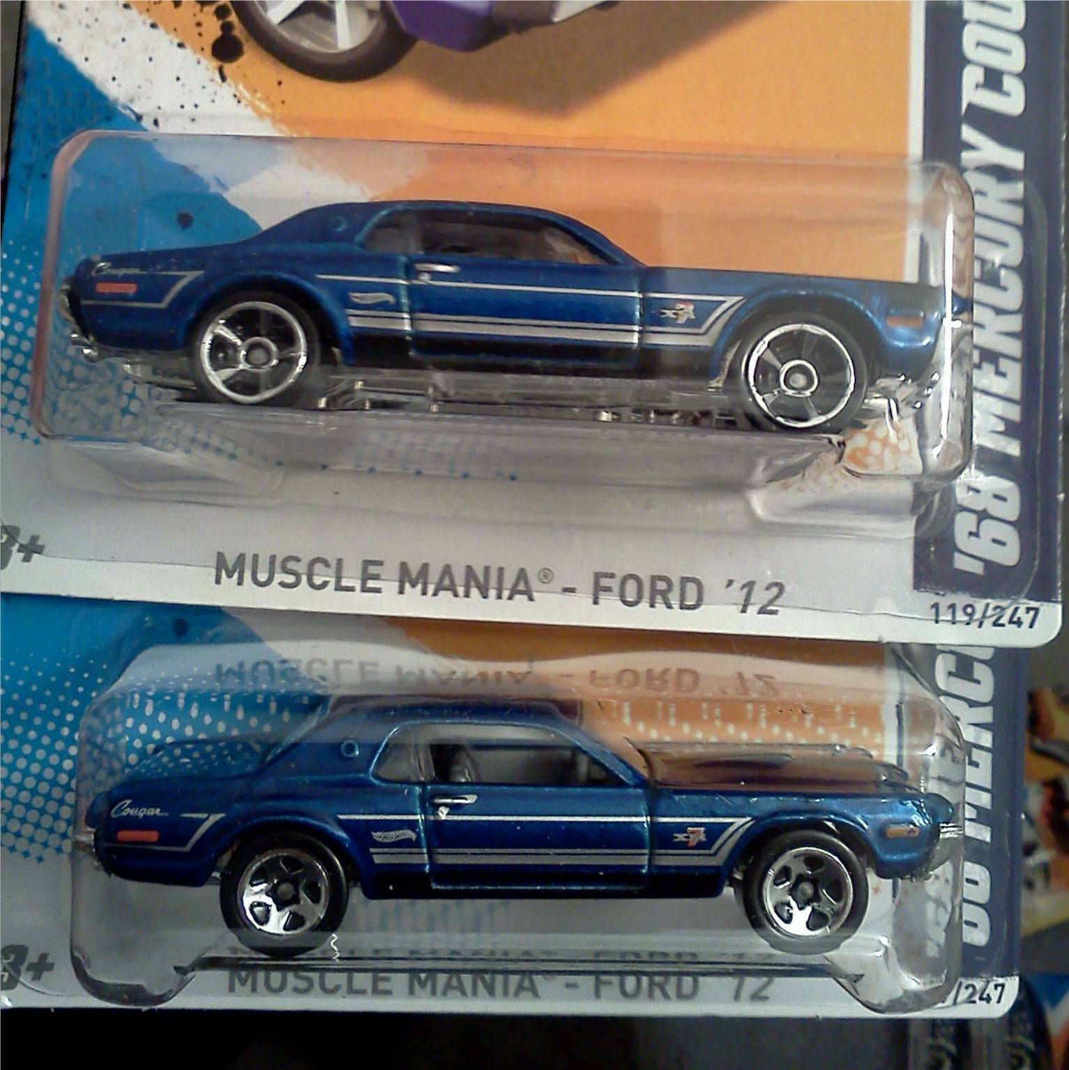 Hot Wheels Muscle Mania 5 spoke Variations.