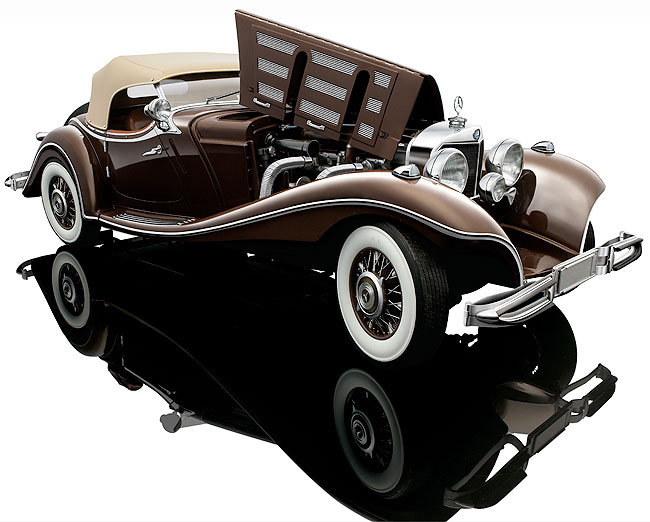 Miniauto reminds collectors that Bauer's Mercedes Benz 500K is nearing SOLD OUT status