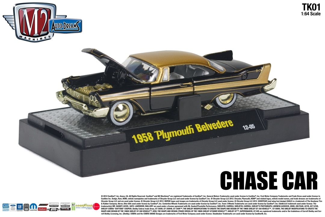M2 machines pinstripe paradise by tom kelly die cast x for Chaise auto