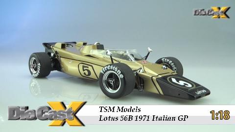 "VIDEO! TSM Models 1:18 Lotus 56B ""Italian Grand Prix"": X-Ray Specs"