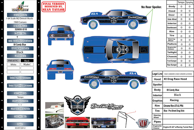 DCX SuperConvention News! M2 Machines Camero 2014 HOF Dinner Car