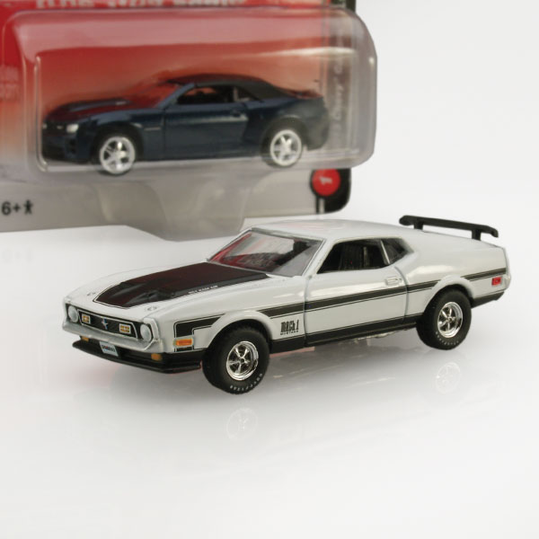 "Auto World ""True 1:64"" Mustang and Camaro"