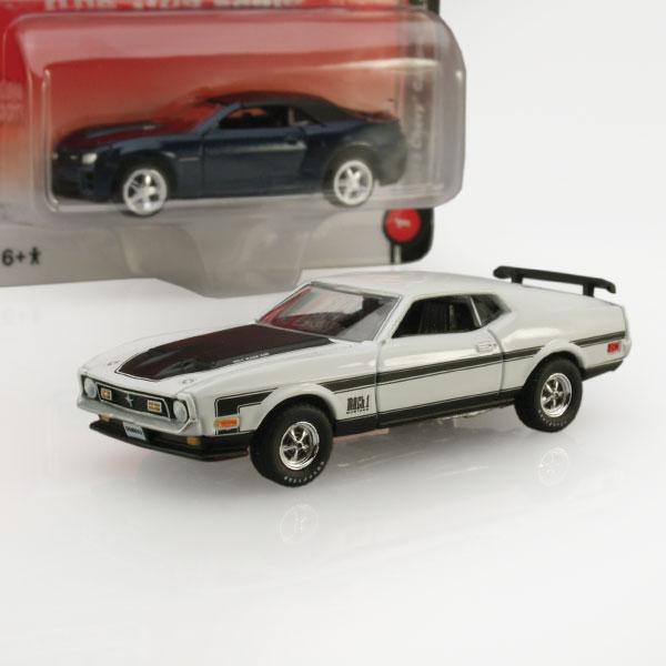 "Auto World ""True 1:64"" Mustang and Camaro"