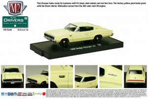 Drivers Release 28 - 1966 Dodge Charger 383 - Yellow - Final Image