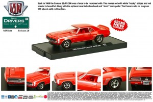 Drivers Release 28 - 1969 Chevrolet Camaro SS-RS 396 - Monza Red with White SS Stripes - Final Image
