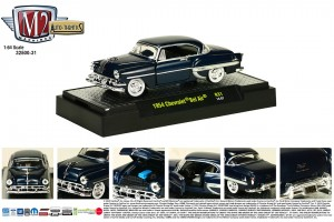 Auto-Thentics Release 31 - 1954 Chevrolet Bel Air - Biscayne Blue Metallic body - Final Image