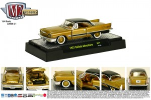 Auto-Thentics Release 31 - 1957 DeSoto Adventurer - Adventurer Gold Metallic Body with Black Roof and Spear - Final Image