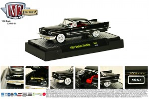 Auto-Thentics Release 31 - 1957 DeSoto Fireflite - Gloss Black Body with factory chrome wheels covers and wide white wall tires - Final Image
