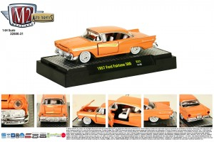 Auto-Thentics Release 31 - 1957 Ford Fairlane 500 - Coral Sand body with Gold spear - Final Image