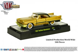 Auto-Thentics Release 31 - CHASE CAR - 1957 DeSoto Adventurer - Adventurer Gold Metallic Body with Black Roof and Spear - Limited Production Word Wide 500 Pieces - Final Image
