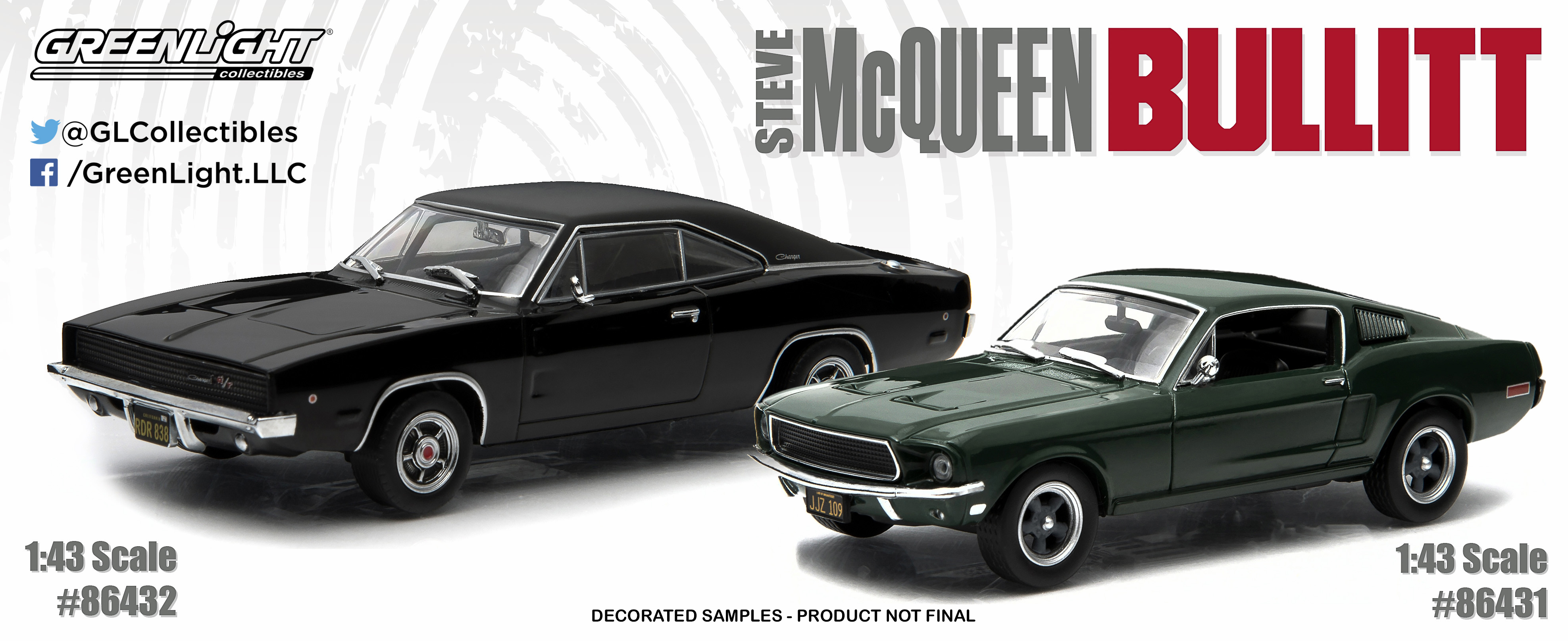 High-Caliber Bullitts: GreenLight's 1:43 Mustang and Charger