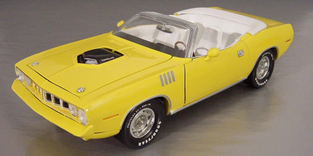 Cuda, Hemi, Nash, Bridges, convertible, Ertl, TV, Don Johnson, diecast, replica, 1:18, Lemon Twist