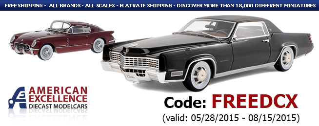 Die Cast X, American Excellence, Free Shipping, Promotional Code