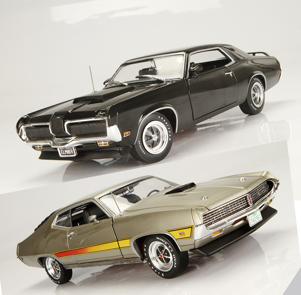 1:18 Ertl//Auto World Mercury Cougar Eliminator 1970 yellow//black