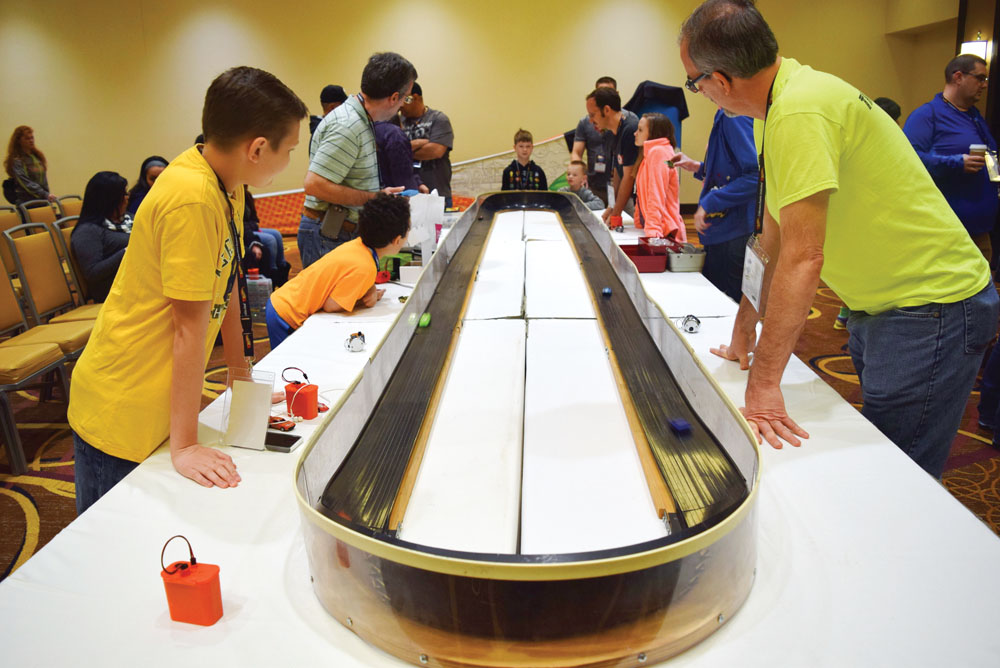 Sizzlers racing is always a big draw at a Hot Wheels event.