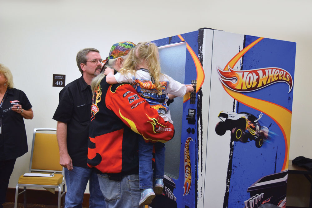 The Hot Wheels Vending Machine drew huge crowds every time it was open.