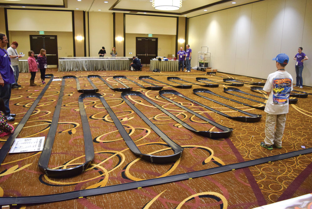 The Fat Sizzlers track, presented by Trackapalooza, measured more than 500 feet. It is the largest ever seen at an event.