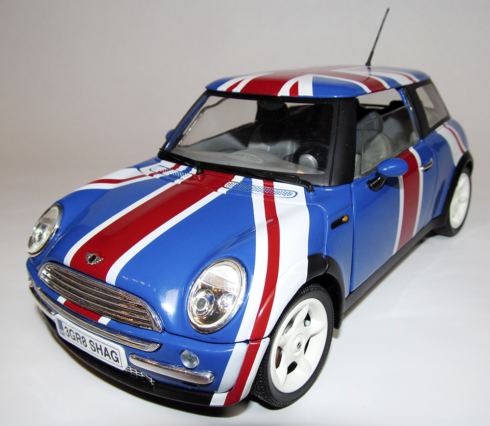 Mini Cooper, Joy Ride, Testors, Austin Powers, British Leyland 1:18, Diecast, Die Cast