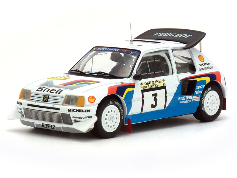 Rally-spec Peugeot 205s aren't as prevalent as one would think. IXO does this one in 1:43.