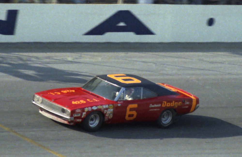 The #6 Charlie Glotzbach Cotton Owens Dodge on track at Daytona in February 1969