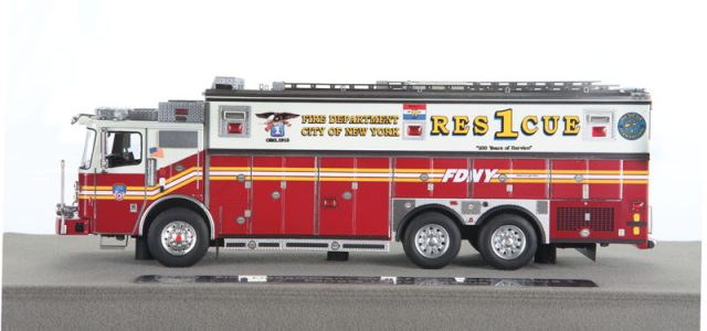 "Fire Replicas  FDNY ""Rescue 1"" – Rolling Tribute to New York's Bravest"