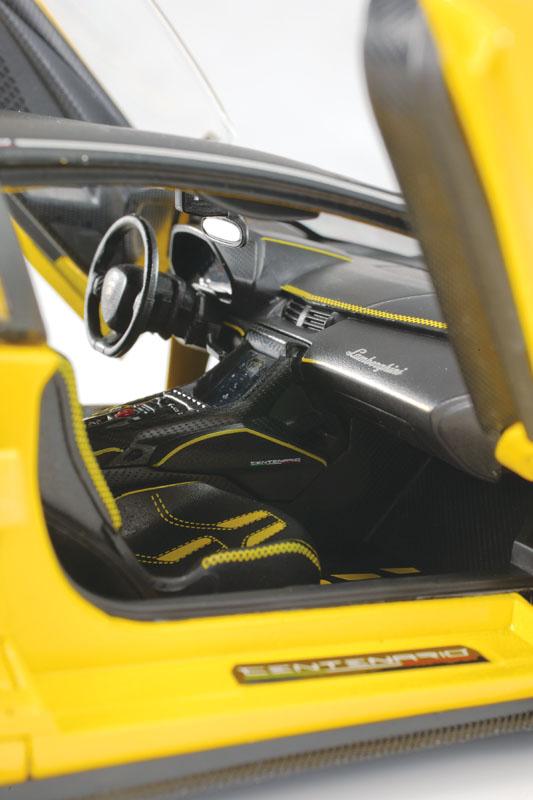 Maisto Exclusive Edition Lamborghini Centenario interior view