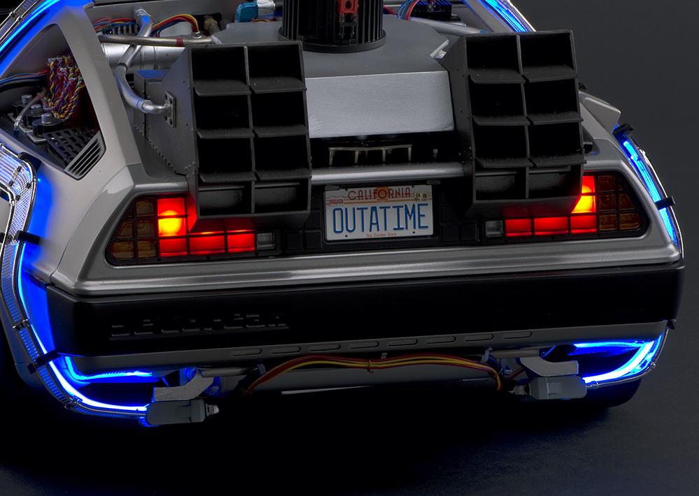 Diecast, Collectible, Movie Car, Back to the Future, Eaglemoss, DeLorean DMC12, Large Scale, 1:8, 1/8, Museum Replica