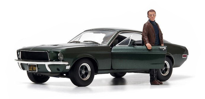 Muscle Car, Collectible, Ford Mustang, Movie Car, Star Car, Steve McQueen, Bullitt Chase, 1968, Dodge Charger, AUTOart, GreenLight, Auto World, Danbury Mint