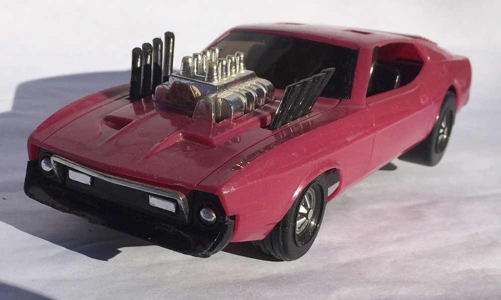 Collectible, Muscle Car, Scale Model, Rip-Cord, Kenner, Stunt Car, Ford Mustang, Hot Rod