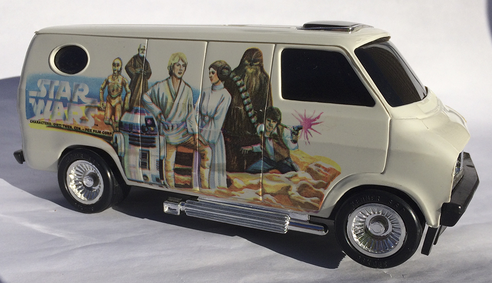 Star Wars, Collectible, Custom Van, Boogie Van,  Scale Model, Rip-Cord, Kenner, Stunt Car