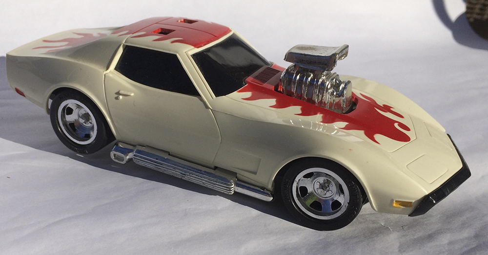 Collectible, Muscle Car, Scale Model, Rip-Cord, Kenner, Stunt Car, Corvette, Vette, Hot Rod