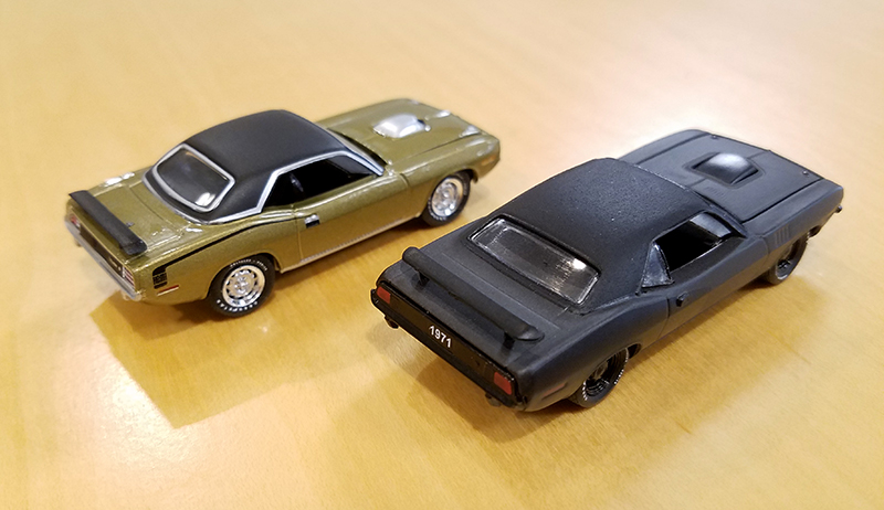 Diecast Muscle Car, Mopar, Hemi, Cuda, collectible, 1:64, 1/64, GreenLight, M2 Machines