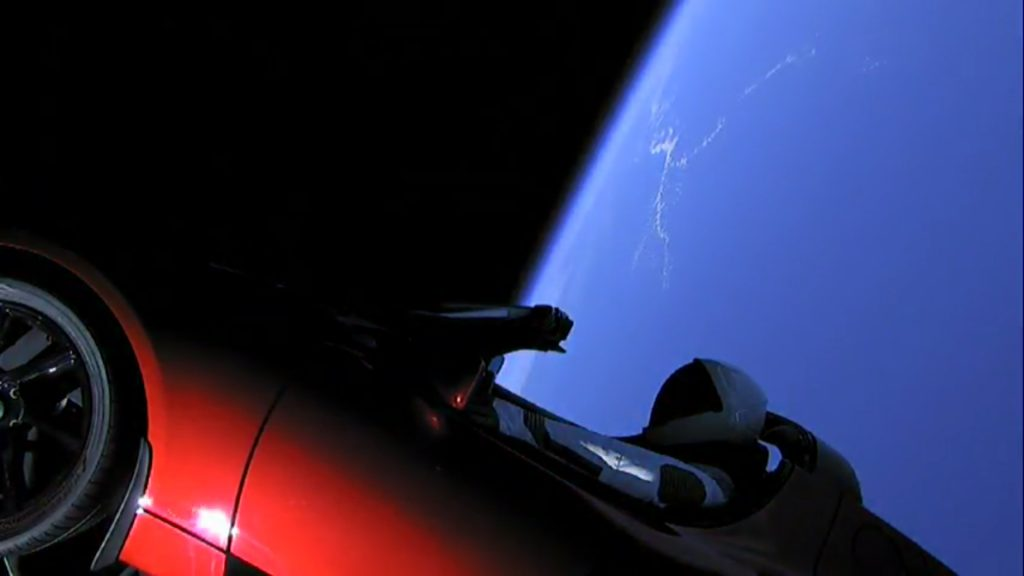 Fastest Car Ever, Automotive History, Tesla Roadster, SpaceX Falcon Heavy Launch, NASA, Space Travel
