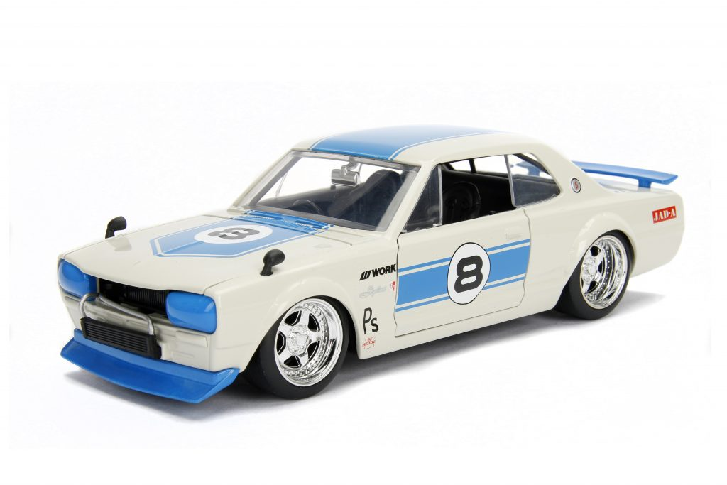 Jada, JDM Tuners, 1:24, Classic Japanese sports car, diecast, collectible, Nissan Skyline GT-R