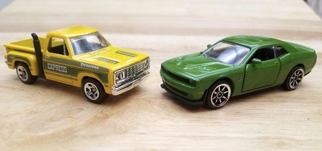 Diecast Head-to-Head: Majorette Hellcat Challenger vs Hot Wheels Lil Red* Express