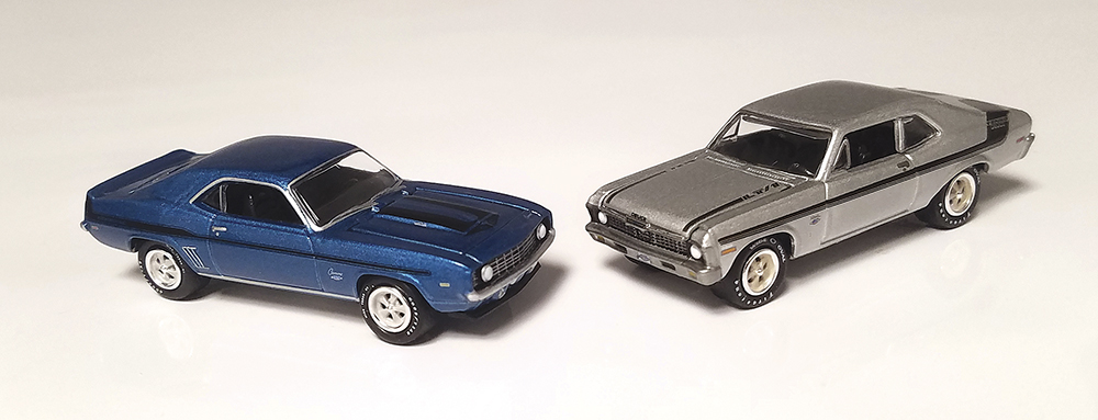 Johnny Lightning, 1:64, Yenko, Twin Pack, Chevy, Camaro, Muscle Car, Nova, diecast, collectible