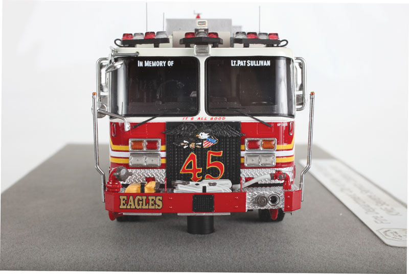 Fire Replicas FDNY Engine 45 KME Severe Service Pumper - front view