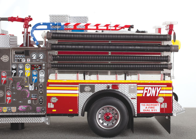 Fire Replicas FDNY Engine 45 KME Severe Service Pumper - side view