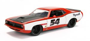Diecast Muscle Car, Mopar, Cuda, Barracuda, Collectible, Replica, Jada, Big Time Muscle, 1:24 scale