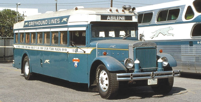 The actual Mack BK in Greyhound's historical fleet.