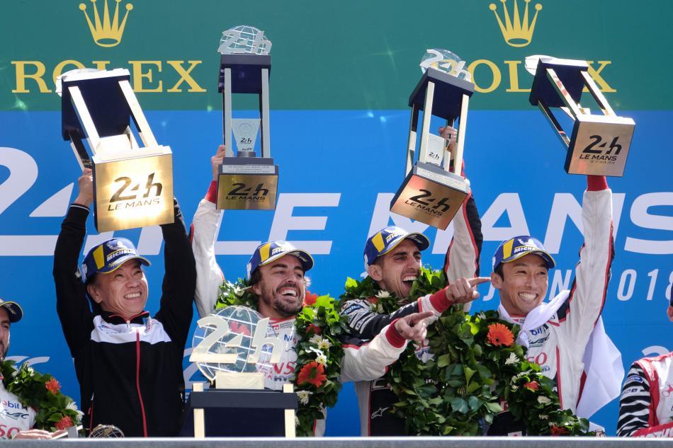 Le Mans, Fernando Alonso, Sébastien Buemi, Kaz Nakajima, Toyota, LMP1, Hybrid, Triple Crown