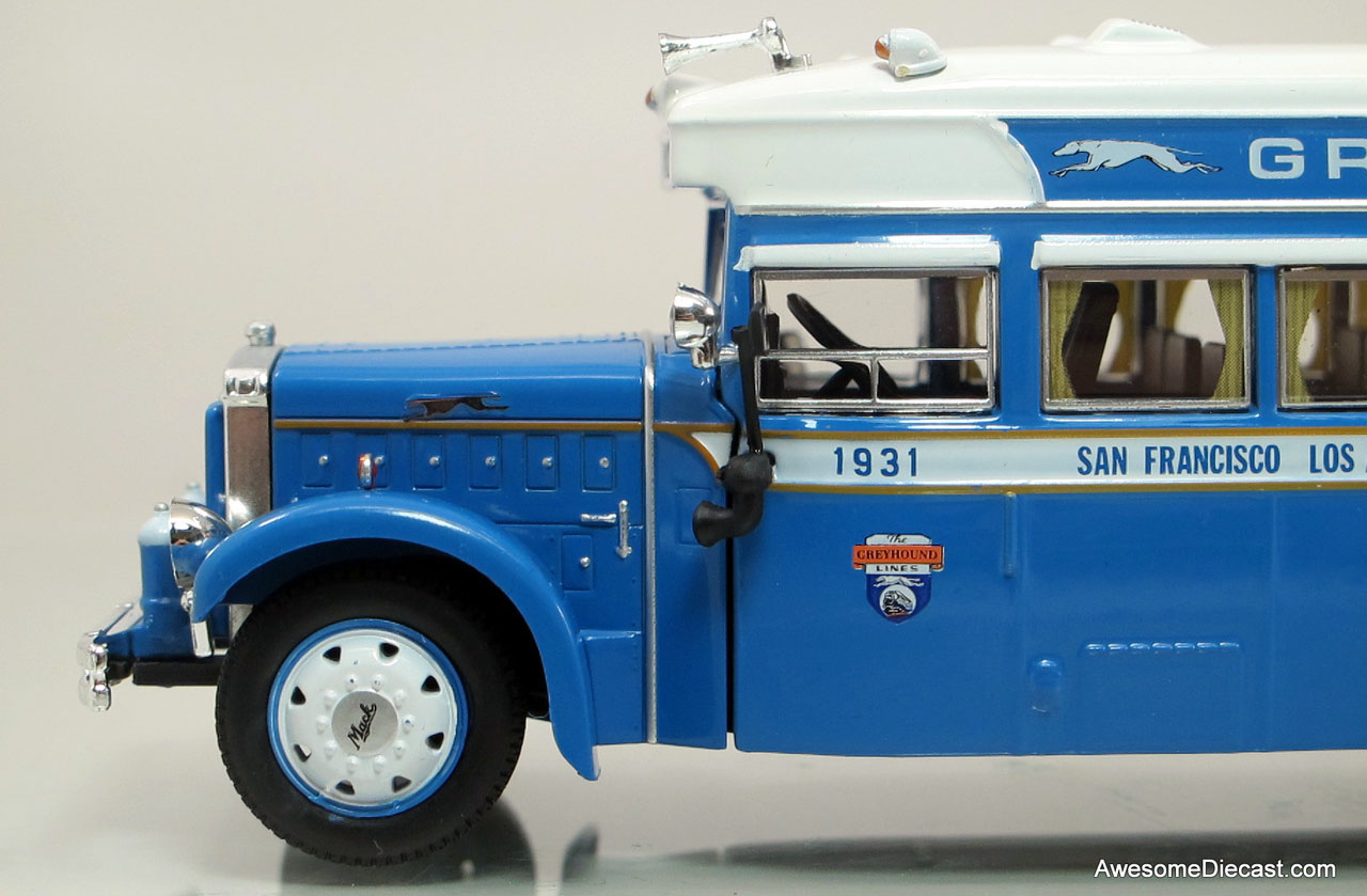 Iconic Replicas Greyhound Bus Lines 1931 Mack BK Parlor Coach fig 3
