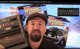 Diecast Video Buildup: Back to the Future DeLorean 1:8-scale from Eaglemoss Collections – Part 1 & 2