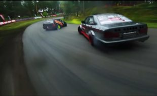 Insane footage: drone cam films drift cars through a forest! [VIDEO]